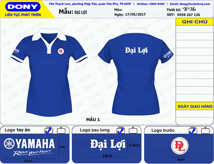1 YAMAHA uniforms Japan company has a lot of dealers in Vietnam