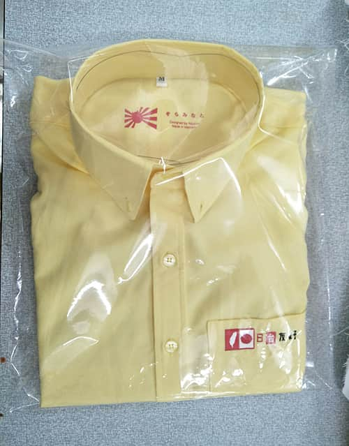 13 JAPAN Daisho Chemical R D Company In Japan Order To Sew Shirts With Large Quantity