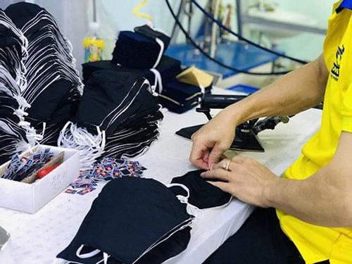 2 PRODUCING ANTIBACTERIAL CLOTH MASKS FOR EXPORT TO BELGIUM