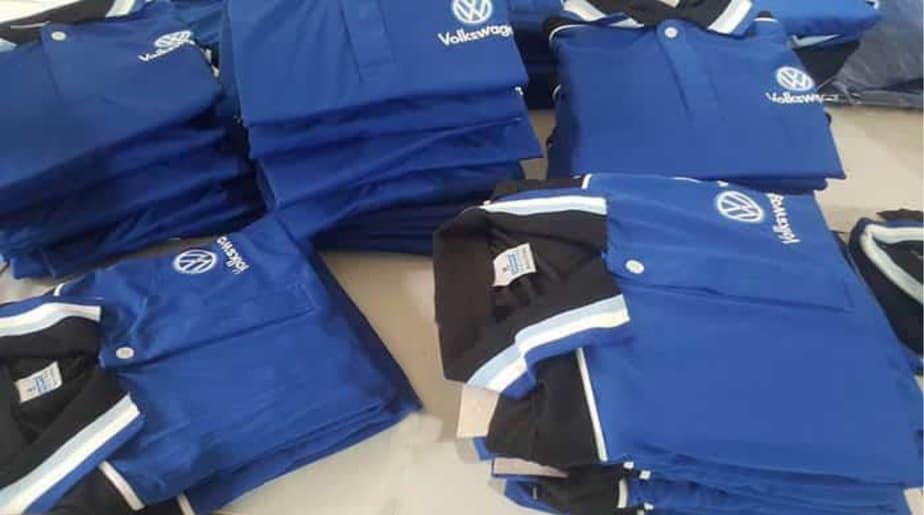 2 The GERMAN Volkswagen Group Delivery uniforms T shirts