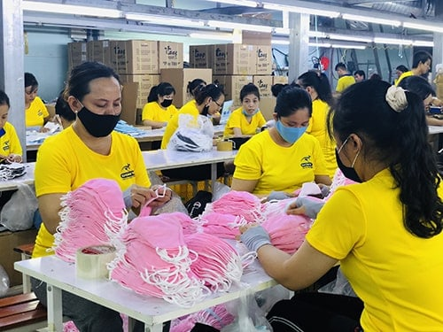 3 PRODUCING ANTIBACTERIAL CLOTH MASKS FOR EXPORT TO AUSTRALIA