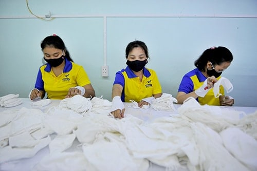 3 PRODUCING ANTIBACTERIAL CLOTH MASKS FOR EXPORT TO FRANCE