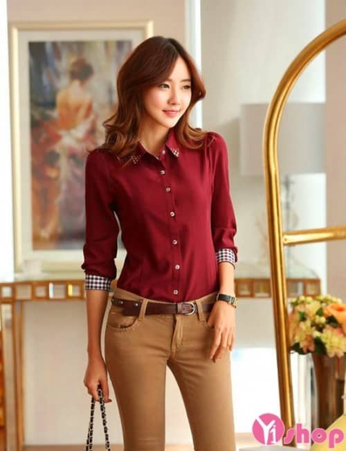 45 Striped shirt Short sleeve shirt Checkered shirt Fashion shirt