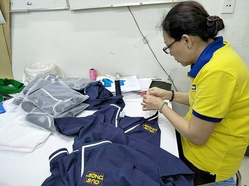 5 Sew uniforms for Song Sao Restaurant