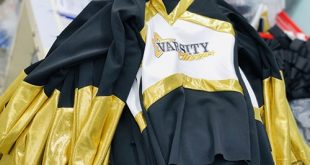 6 Producing cheerleading uniforms for customers in the USA