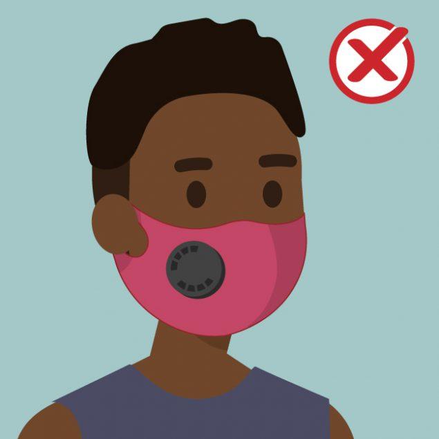 Masks Have Exhalation Valves Or Vents