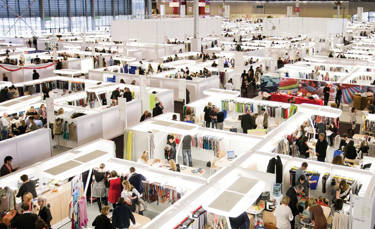 A fashion trade show