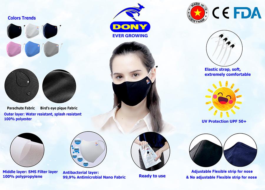 DONY MASK – Premium Antibacterial Cloth Mask