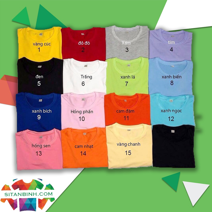 Color Options At Tan Binh T-shirt Factory